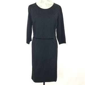 Talbots Black Polka Dot Long Sleeve Dress Sz 18P